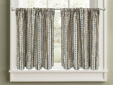 Colordrift Pine Stripe 36 inch Tier Pair Kitchen Curtains Trees Woodland