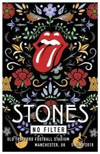 ROLLING STONES concert poster / No Filter / Manchester, UK, 2018 / 19x13 in