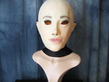 Gummimaske LILLY +WIMPERN - Weibliche Frauenmaske Latex Crossdresser Transgender