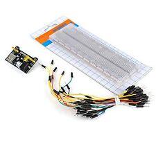 830 Tie Point Solderless Mb 102 Breadboard Power Supply Jumper Wires Starter Kit