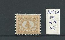 Ned. INDIE 109 CIJFER 4ct geel  MNH/postfris  CV 55 €