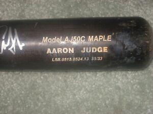 Aaron Judge Game Used Signed Chandler Personal Model AJ50C Maple Bat 0524.13 JSA