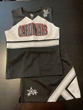 ION Cheer Cardinals 2pc Black Cheerleader Uniform NFL Costume Youth Medium EUC