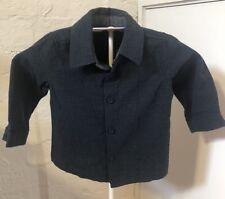 Peter Morrissey Size 0 Navy Button Front Dress Shirt EUC Baby Boy