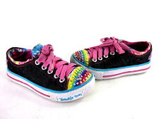 SKECHERS KIDS SHUFFLES-MUCH LOVE LITTLE KID LIGHTED SNEAKERS BLK/MLTI US SZ 11 M