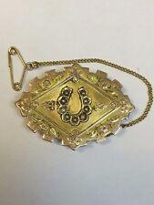 Antico 9 KT ROSE ORO Semi Pearl Set Lutto foto Spilla Chester 1890