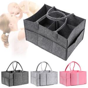 Large Pocket Nappy Changing Basket Tote Bag Baby Diaper Organizer Carrier Bag