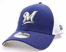 MILWAUKEE BREWERS NEW ERA 39THIRTY MLB DOUBLE MESH BASEBALL CAP HAT
