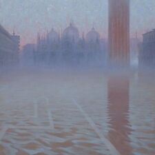 """BELLISSIMO ORIGINALE Mark Harrison """"la morte per annegamento SQUARE"""" VENEZIA ITALIA PITTURA"""