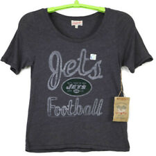 Junk Food New York Jets NFL Football Womens Shirt TShirt Size Large L Gray