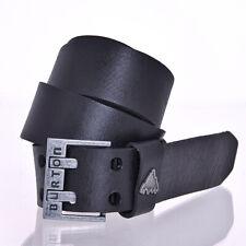 Burton Blackburn Leather Belt True Black Size Large
