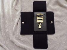 Masonic Lewis Jewels Generational 3 Bar Date Initiation Case Goldtone NEW!