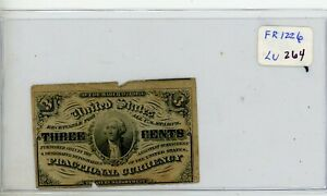 Fr. 1226 Fractional Currency 1863 3 cents 3c Note # 264