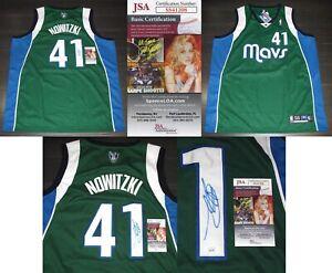 "Rare DIRK NOWITZKI signed Autographed ""DALLAS MAVERICKS"" MAVS JERSEY b JSA COA"
