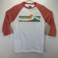 C&C California Mens Pipeline Slim-Fit Raglan 3/4 Sleeve T-Shirt White M