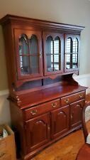 Cherry wood dining room set,10 chairs, table, hutch, buffet, etc