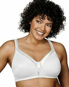 Playtex Womens 18 Hour Sensationally Sleek Wirefree Bra 40B WHITE