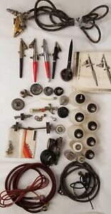 Lot Vintage Airbrush Tools Hoses Containers Accessories for Parts Only Untested