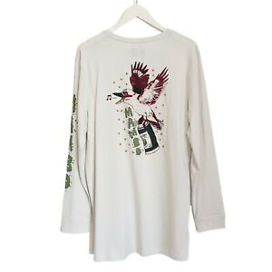 Mambo Smart Arts Crimes Against Nature Bird Long Sleeve T-Shirt Mens Large