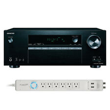 Onkyo TXSR353 5.1 Receiver & 6-Outlet Floor Power Strip Bundle