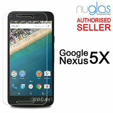 2 x GENUINE NUGLAS Tempered Glass Screen Protector For Google Nexus 5X LG