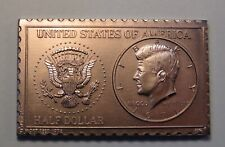 1971 United States JFK Kennedy Half Dollar Numistamp Medal Coin 1976 Mort Reed
