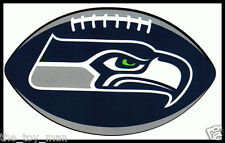 SEATTLE SEAHAWKS OVAL FOOTBALL NFL LICENSED TEAM LOGO INDOOR DECAL STICKER