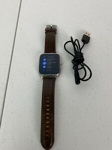 ASUS ZenWatch 2 Android Smart Watch Wi501q Original Factory Reset Brown Leather