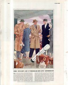 1937 Undergraduates coats, slacks, hats by Laurence Fellows