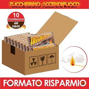 DIAVOLINA 400 Cubetti Accendifuoco Camino Stufa BBQ Barbecue