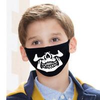 Kinder Baumwolle Masken Gesundheit Staubschutz Mund Waschbar Schädelstil B