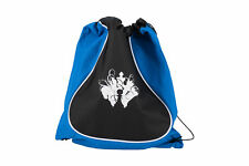 Deluxe Drawstring Cinch Chess Backpack-Blue