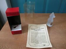 1981 Goebel Annual Frosted Glass Ornament in Box with Paperwork