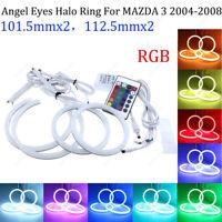 RGB Halo Ring For MAZDA 3 2004-2008 car headlight LED Angel Eye Multi-Color Lamp