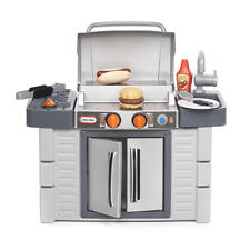Play Set BBq Grill Pretend Kitchen Outdoor Food Cooking System Game Kids Toy