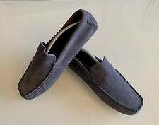 Lanvin Loafers / Driving Shoes in Suede & Leather - Blue, Size UK 10 / EU 44