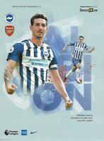 Brighton & Hove Albion v Arsenal Official Match Programme 20th June 2020