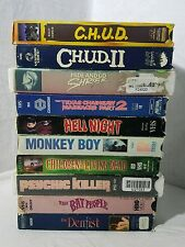 lot of 10 rare oop horror VHS Movies C.H.U.D. II Hide and Shreik, Texas Chainsaw