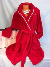 NWT Victoria's Secret~Plush~Fleece Wrap Spa Robe~Long Sleeve~Red~Sz XL