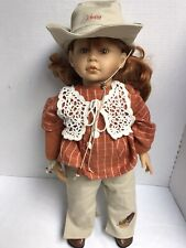 """Vintage Zapf Inc. Doll 20"""" Country Girl Baby Colette Made in Germany"""