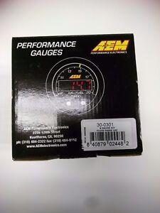 AEM X Series Oil Pressure Gauge 0-100 psi Black/Black 30-0301