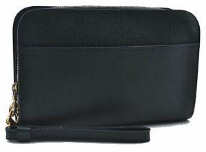 Authentic Louis Vuitton Taiga Baikal Clutch Bag Green M30184 LV E2779