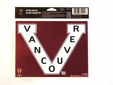 "Vancouver Canucks Retro V Logo 5""x6"" Decal  IN STOCK!!"