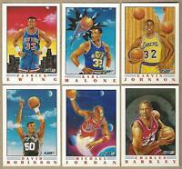 1991-92 Fleer Basketball PRO VISIONS 6 Card Set: Michael Jordan, Ewing, Magic