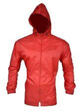 Mens Womens Raincoat Zip Jacket Waterproof Hooded Outdoor Rainwear Windproof