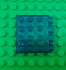 Lego Classic Space Blue Translucent 4x4 Stud Roof Hinge Plate - 1 piece