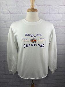 Vintage Super Bowl XXXV Crewneck Sweatshirt Baltimore Ravens 2000 Vtg Men's XL