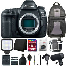 Canon Eos 5D Mark Iv Dslr Camera (Body) + Battery Replacement & Charger + Kit