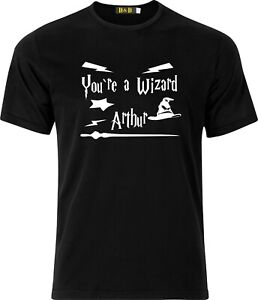 Personalised your a wizard Harry Potter xmas present funny humour cotton t shirt