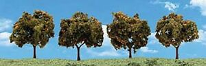 2in 3in. Orange trees - Pack of 4 - OO/HO trees Woodland Scenics TR3592